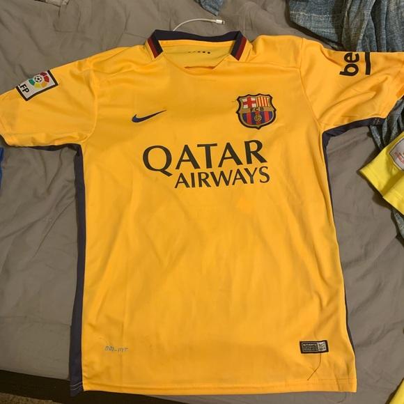 buy popular 44911 c18c8 Fc Barcelona Yellow 2015 Nike Soccer Jersey